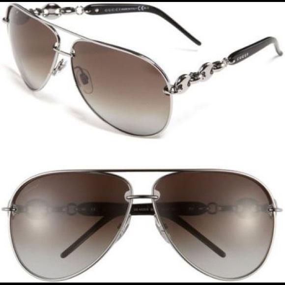 681e442cc53 Gucci Accessories - Gucci Marina Chain Aviator Sunglasses